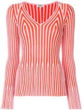 Kenzo - striped knitted top - women - Cotton/Viscose - XS, S, M, L, XL - PINK & PURPLE