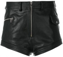 Diesel Black Gold - high waist shorts - women - Leather/Viscose/Polyester - 40, 42 - BLACK