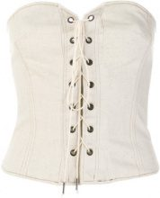 Isabel Marant - Top 'Pryam' - women - Cotton/Acrylic/Polyester/Spandex/Elastane - 34, 38 - NUDE & NEUTRALS