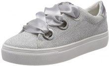 Tom Tailor 4896804, Sneaker Donna, Argento (Silver), 41 EU