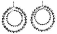 PIECES Lizzy Hoop Earrings Women Silver