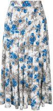 Erika Cavallini - Gonna con stampa floreale - women - Silk/Polyester - 38, 42 - WHITE