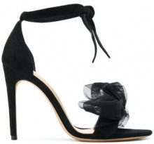 Alexandre Birman - Sandali con fiocco - women - Suede/Leather - 36, 36.5, 37, 37.5, 38, 39, 39.5, 40, 41 - BLACK