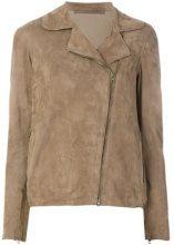Salvatore Santoro - leather jacket - women - Leather - 42 - BROWN