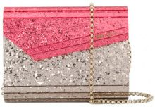 Jimmy Choo - Borsa Clutch 'Candy' - women - Leather/Acrylic - One Size - PINK & PURPLE