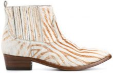 Golden Goose Deluxe Brand - zebra print ankle boots - women - Leather/Pony Fur - 35, 36, 37, 38, 39, 40 - NUDE & NEUTRALS