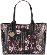 Emporio Armani - floral printed tote bag - women - Leather - OS - BLACK