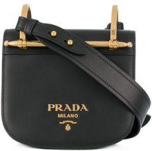 Prada - Borsa a tracolla - women - Leather - One Size - BLACK