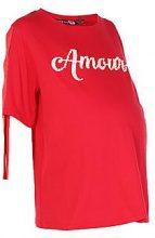 Premaman Amore Melissa perline t-shirt