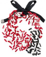 Maria Calderara - intertwined wiring necklace - women - Resin - OS - RED