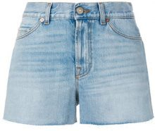 Gucci - Shorts 'Cat' - women - Cotone/Calf Leather - 26, 28 - Blu