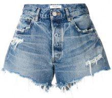 Moussy - Pantaloni corti jeans - women - Cotton/Leather - 26, 27, 28, 25 - BLUE