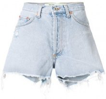 Off-White - Shorts strappati - women - Cotton - 26, 27, 28 - BLUE
