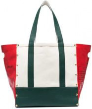 Sacai - Borsa tote 'Garden' - women - Cotone/Calf Leather - One Size - Bianco