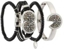 Camila Klein - four bracelets set - women - metal - OS - BLACK