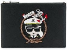 Karl Lagerfeld - Captain Karl pouch - women - Polyurethane - OS - BLACK