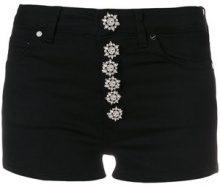 Dondup - Shorts con bottoni - women - Cotone/Spandex/Elastane/Polyester - 25, 29 - Nero