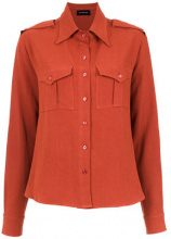 Olympiah - Inca martingale detailed shirt - women - Linen/Flax/Viscose - 34, 36, 38 - RED