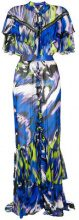 Just Cavalli - Vestito lungo - women - Viscose - 38, 40 - MULTICOLOUR