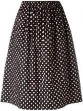 - Comme Des Garçons Girl - polka dot midi skirt - women - Cotone - M - Nero