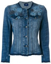 7 For All Mankind - Giacca di denim a fiori - women - Cotton/Spandex/Elastane - S, M, L, XS - BLUE