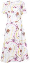 Gabriela Hearst - printed cut out dress - women - Cotton - 42 - WHITE