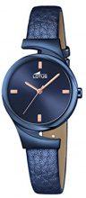 Orologio Da Donna Quarzo Lotus display Analogico cinturino Pelle Blu e quadrante Blu  18345/1