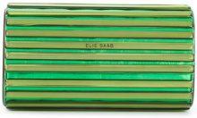 Elie Saab - Borsa Clutch - women - Calf Leather/Brass - OS - GREEN