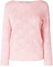 Etro - open knit detail sweater - women - Wool/Viscose/Cashmere - 42, 44, 46, 48 - PINK & PURPLE