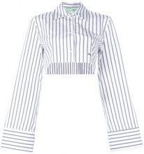 Off-White - Camicia crop a righe - women - Cotton - 38, 40 - WHITE