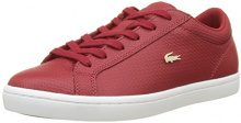 Lacoste Straightset Lace, Sneaker Donna, Rosso (Dk Red), 38 EU