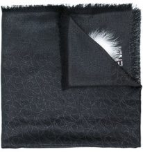 Fendi - Sciarpa 'Karlito' - women - Silk/Calf Leather/Fox Fur/Wool - OS - BLACK