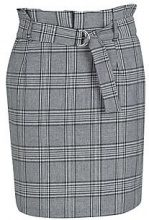 Layla Paperbag Waist Belted Woven Check Skirt