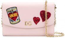 Dolce & Gabbana - Borsa a tracolla - women - Leather/Silk/glass/poliacrilico - OS - Rosa & viola