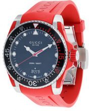Gucci - Orologio 'Dive' - men - stainless steel/silicones - OS - Rosso