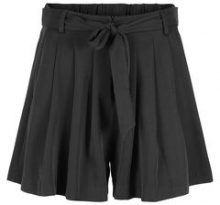 Y.A.S Tie Detailed Shorts Women Black