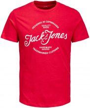 JACK & JONES Print T-shirt Men Red