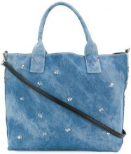 Pinko - Capolepre tote - women - Cotton/Polyurethane - One Size - BLUE