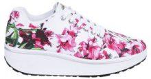 Sneakers fitness con fiori tropicali