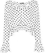 Petite Demi a pallini Blusa allacciata con stampa sul davanti