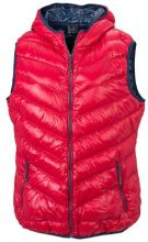 James & Nicholson Gilet piumino Donna Ladies' Down Vest, Rosso (red/navy), S