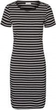 NOISY MAY Striped Short Sleeved Dress Women Black