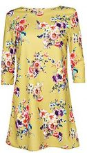 Audrina Floral 3/4 Sleeve Shift Dress