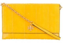 Tory Burch - Kira snake clutch bag - women - Snake Skin - OS - YELLOW & ORANGE