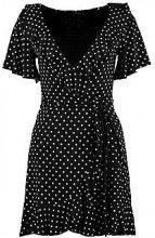 Alana Wrap Spot Print Frill Detail Tea Dress