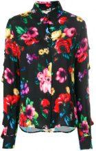 Love Moschino - pixel floral print shirt - women - Viscose - 40, 42, 44, 46 - MULTICOLOUR
