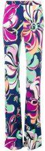 Emilio Pucci - flared high-rise trousers - women - Viscose/Silk - 50, 40, 44 - MULTICOLOUR