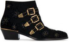 Chloé - Stivali 'Susanna' - women - Leather/Suede/Velvet - 36, 37, 37.5, 38, 38.5, 39, 39.5, 40, 41 - BLACK