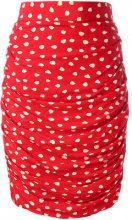 Emanuel Ungaro Vintage - Gonna a pois - women - Viscose/Acetate/Cupro - 42 - RED