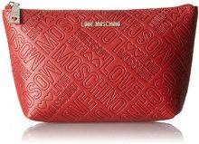 Love Moschino Bustina Embossed Pu Rosso - Pochette da giorno Donna, Rot (Red), 14x24x7 cm (B x H T)